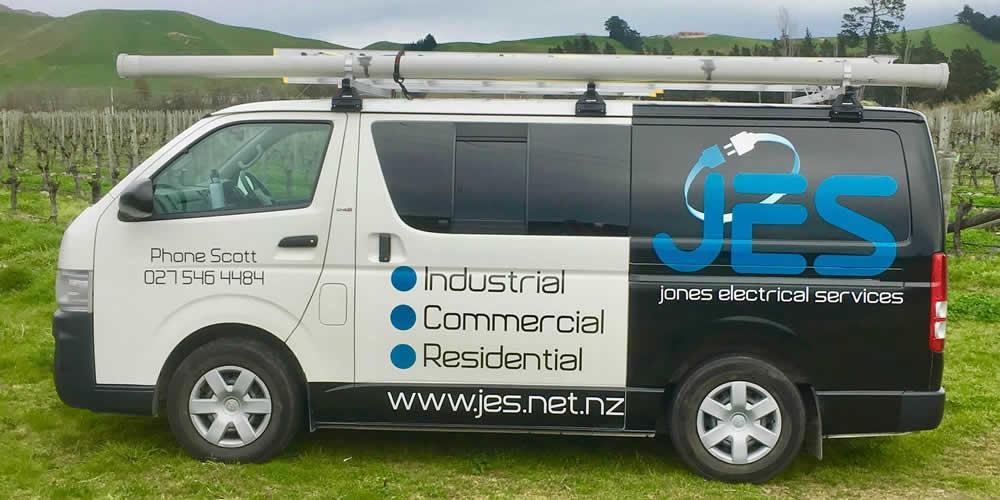 Work Van Used By Jones Electrical Services Ltd In Marlborough NZ